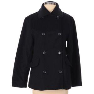 J. Crew wool pea coat black - size XS